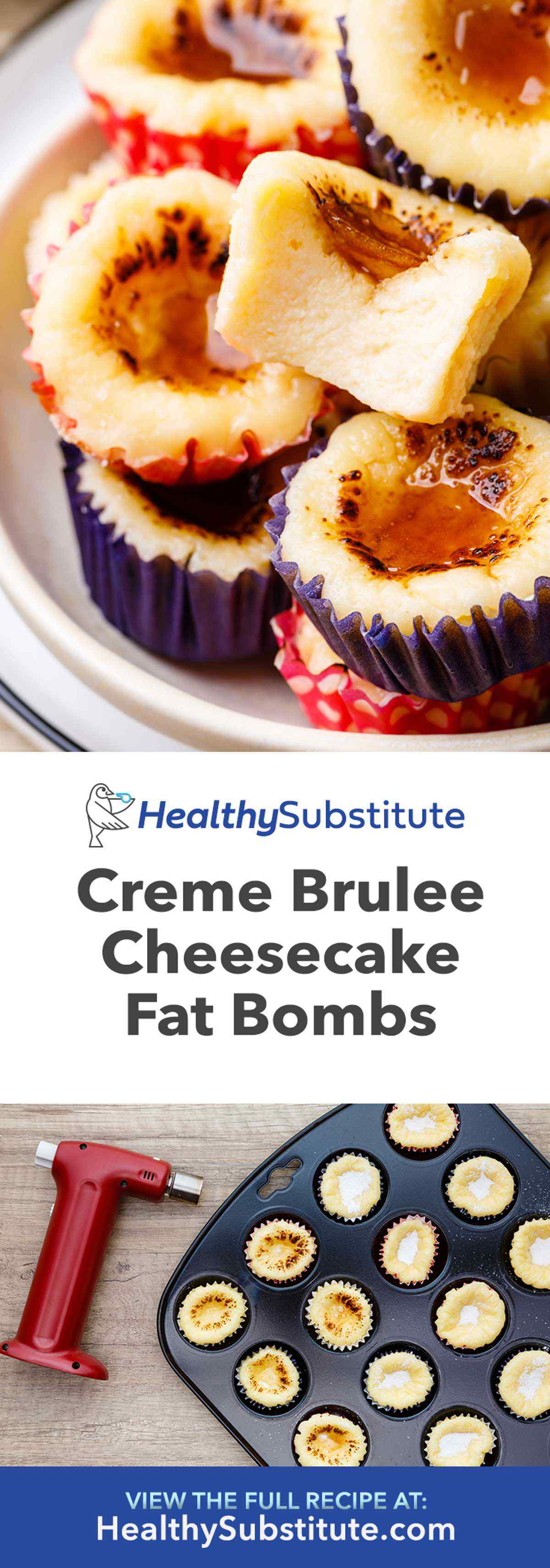 Creme Brulee Cheesecake Fat Bombs