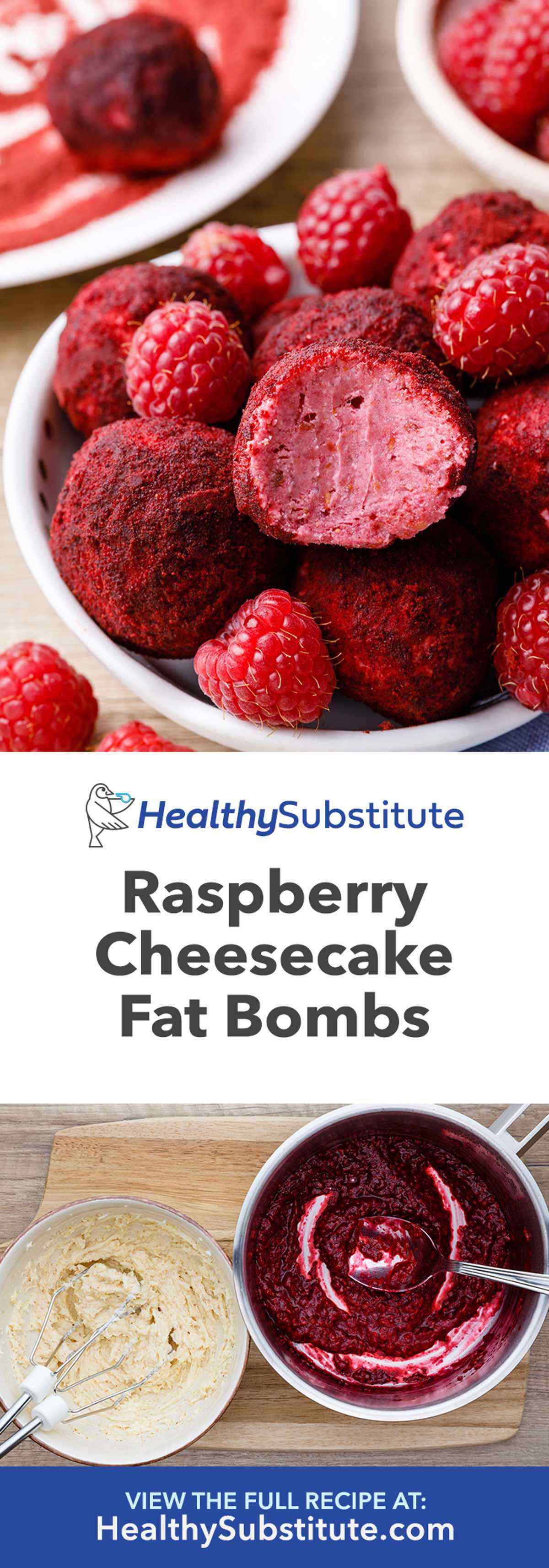 Raspberry Cheesecake Keto Fat Bombs