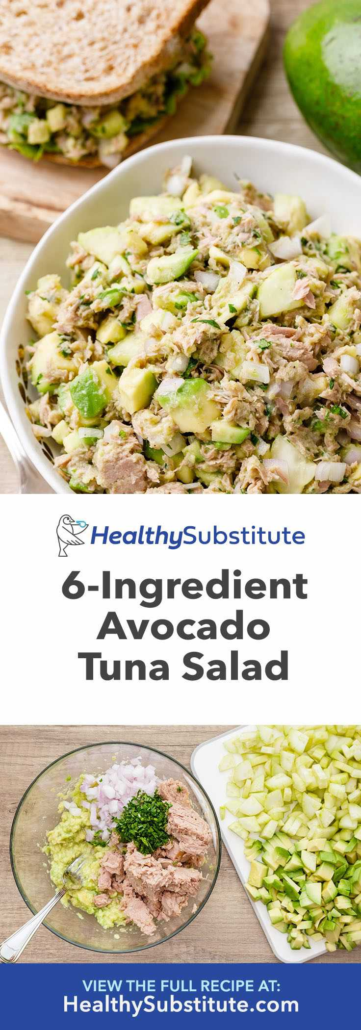 You need to try this avocado tuna salad!