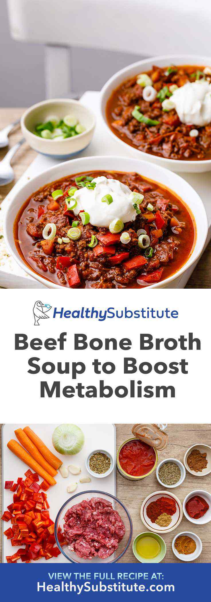 This low carb beef bone broth chili is packed with protein and is incredibly satisfying.