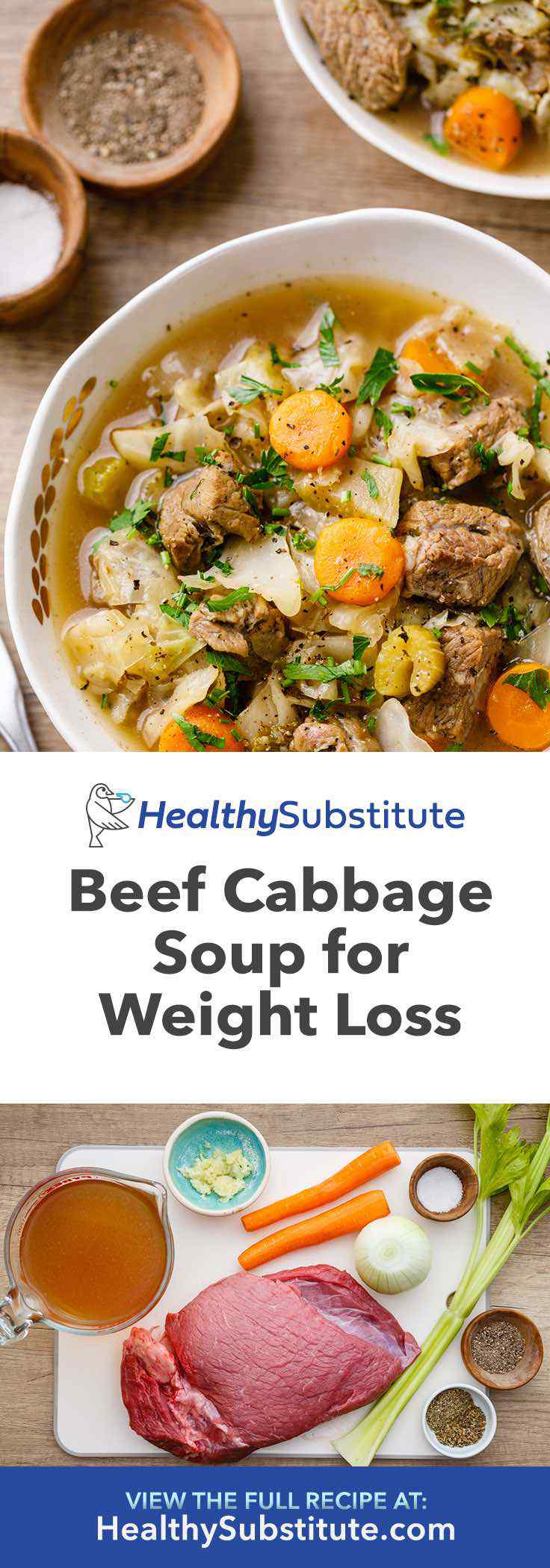 This beef cabbage weight loss soup is tasty, hearty and a great recipe to help you lose weight.