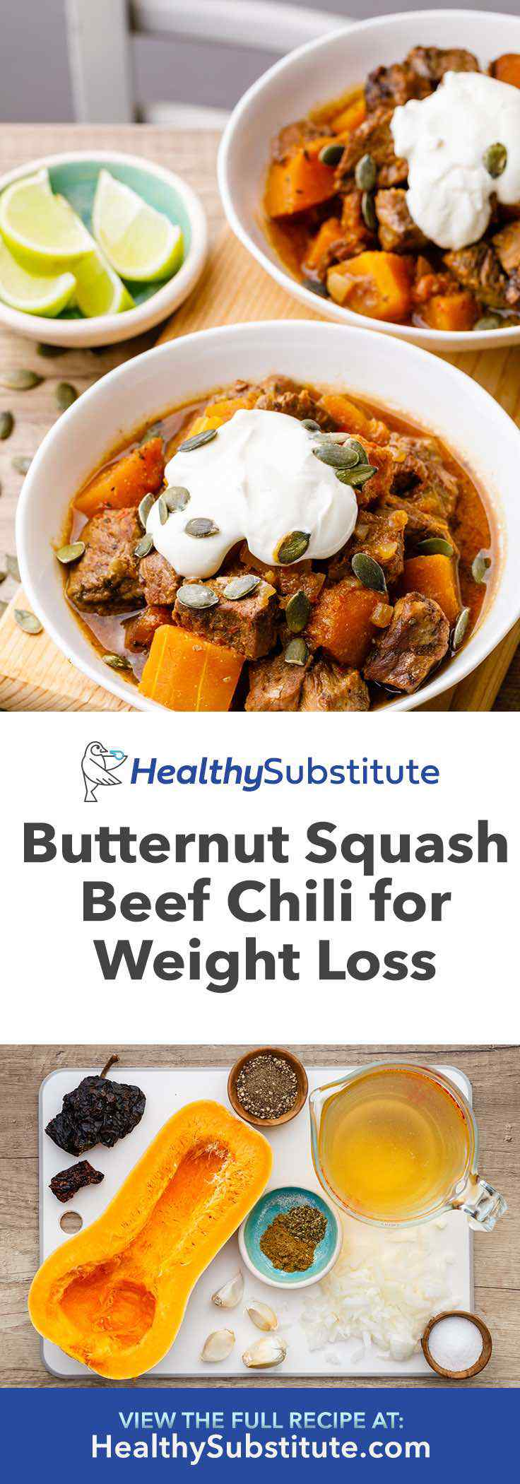This butternut squash beef chili is incredibly delicious, satisfying and can help with weight loss.