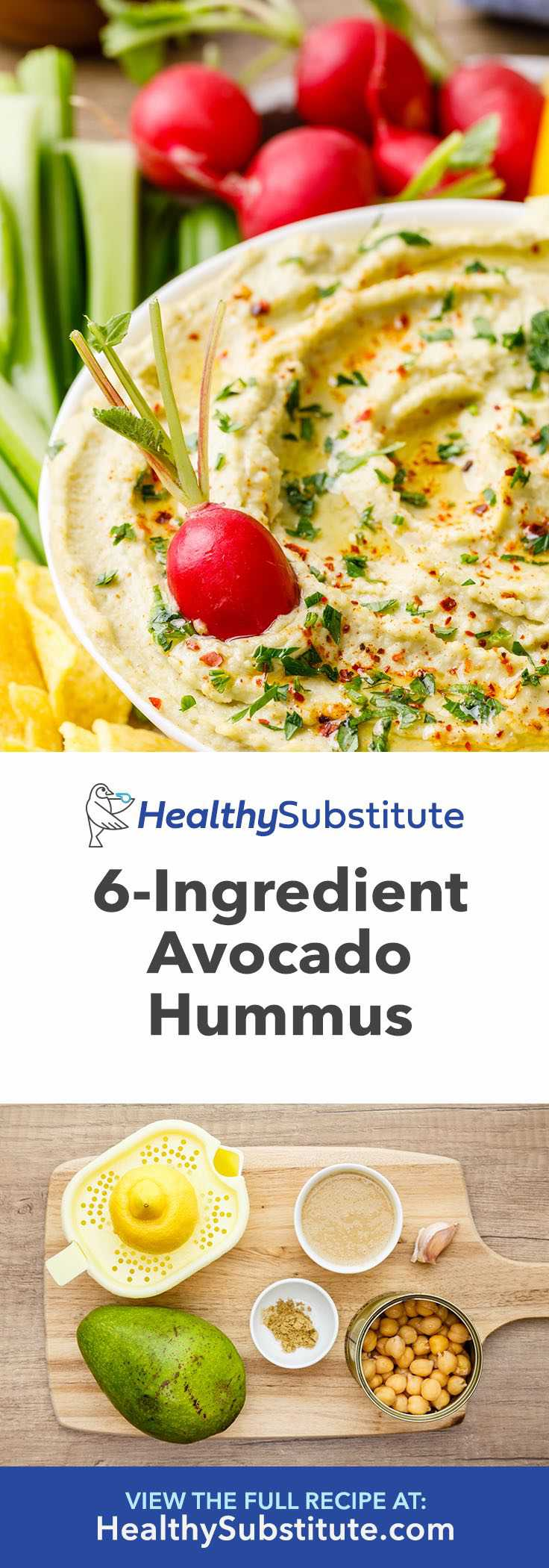 This tasty avocado hummus is so easy to make and really good for you.