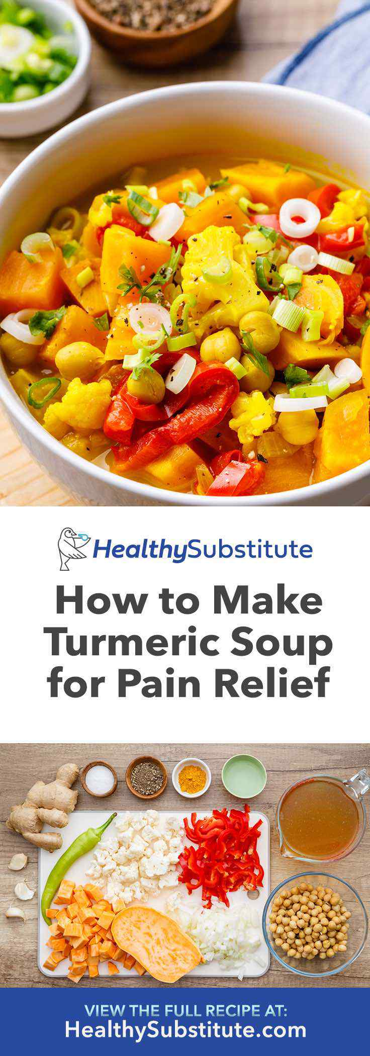 Make this anti-inflammatory turmeric curcumin soup for pain relief.