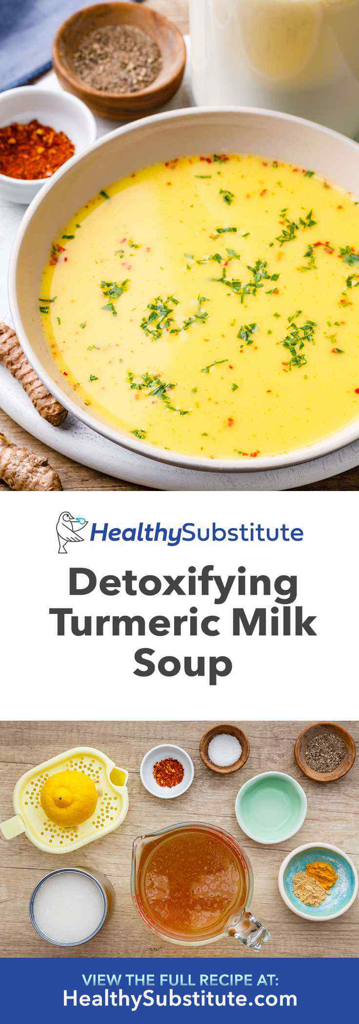 This detoxifying turmeric milk soup is incredible.
