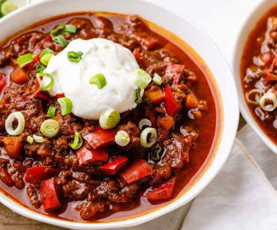 Beef Bone Broth Chili