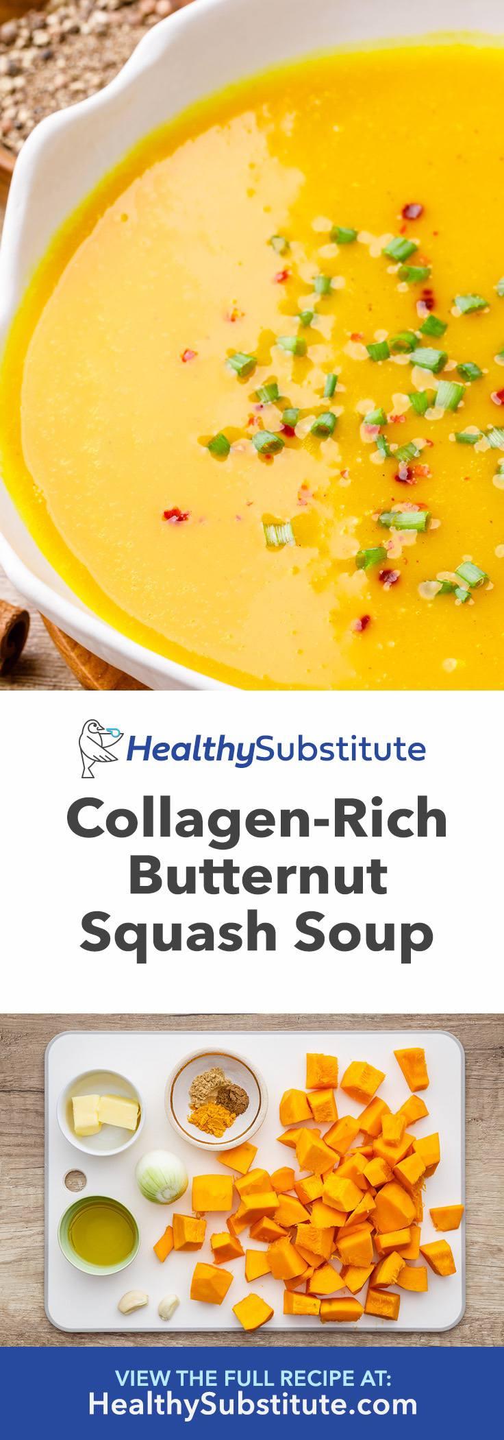 Collagen-Rich Butternut Squash Soup for Back Pain