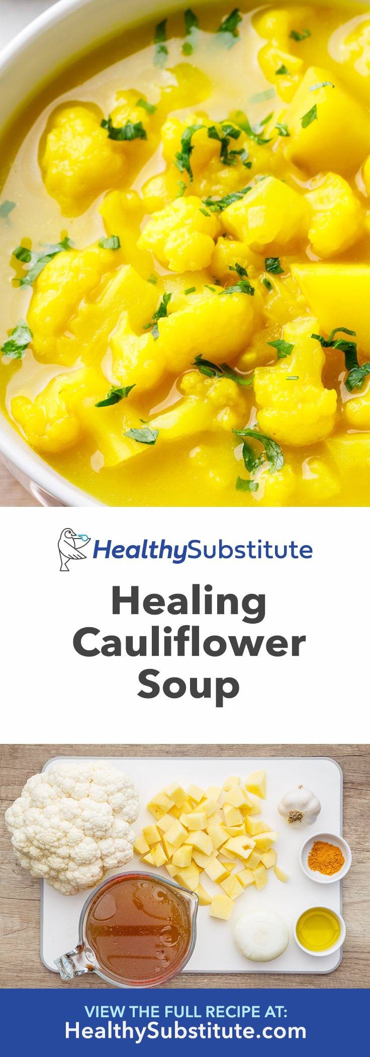 Healing Cauliflower Soup to Get Rid of a Cold