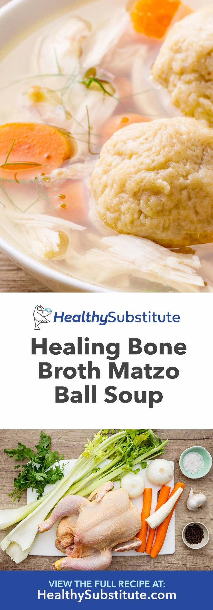 How to Make Healing Bone Broth Matzo Ball Soup to Get Rid of a Cold