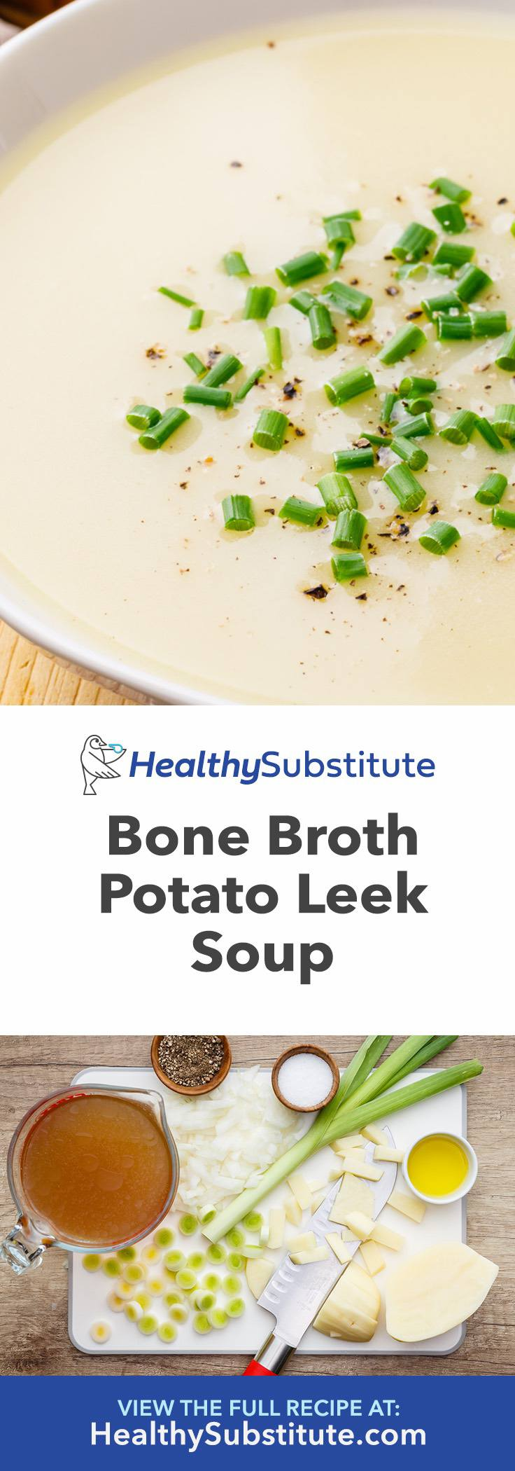Bone Broth Potato Leek Soup for Energy and Weight Loss