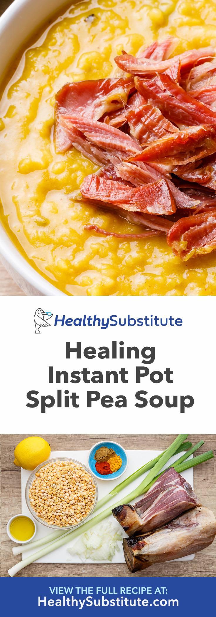 OMG-worthy Instant Pot Split Pea Soup
