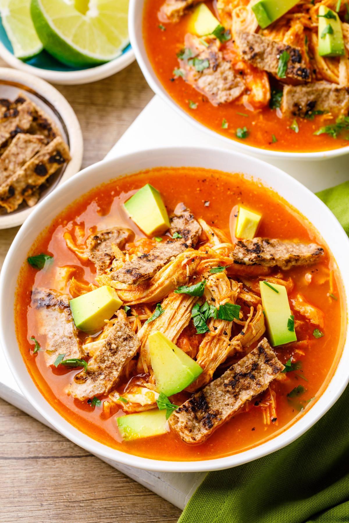 Bone Broth Chicken Tortilla Soup