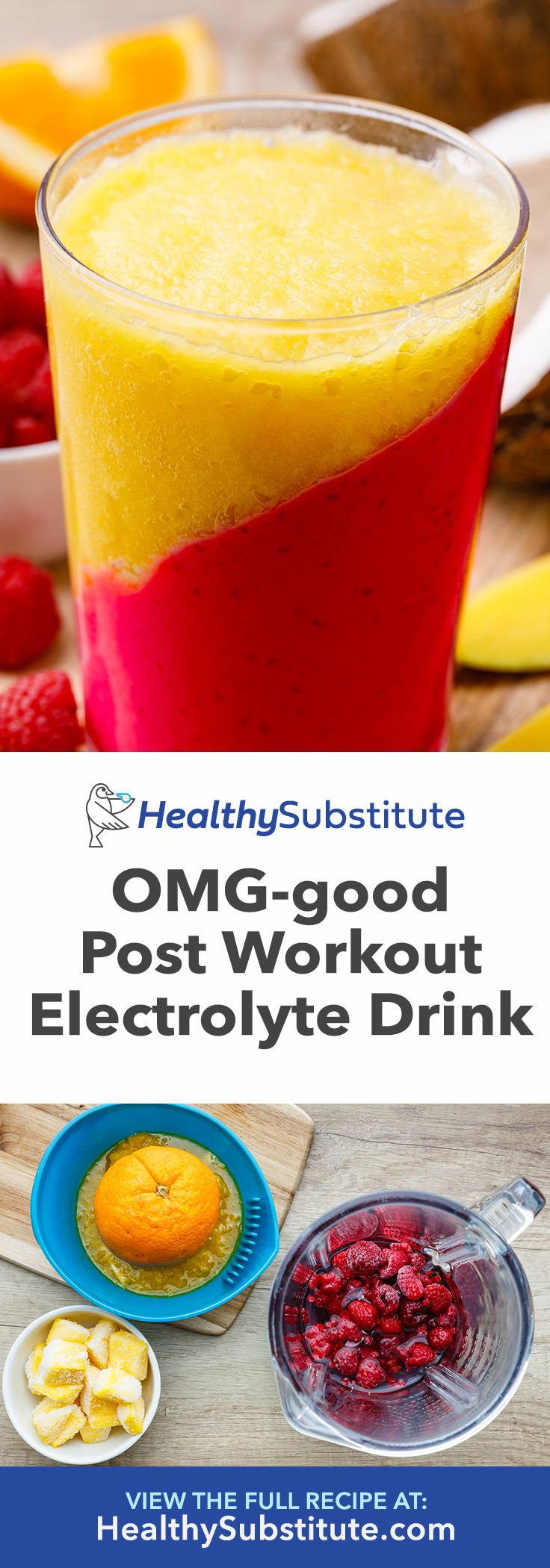 Raspberry Mango Post-Workout Drink to Recover Electrolytes