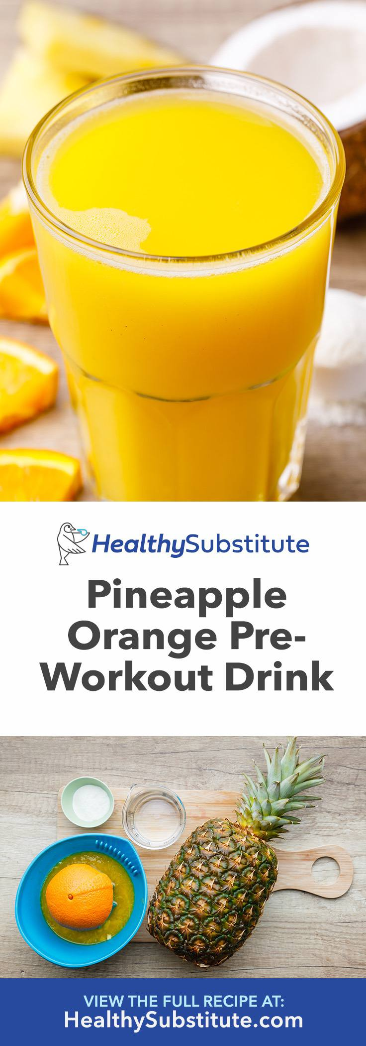 Pineapple Orange Pre-Workout Drink for Sustained Energy
