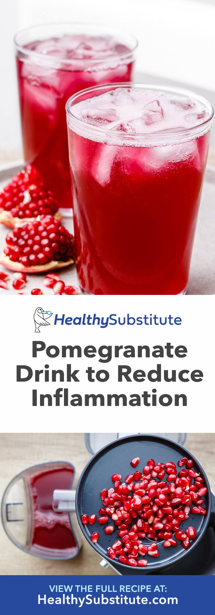 Sparkling Pomegranate Juice Drink to Reduce Inflammation