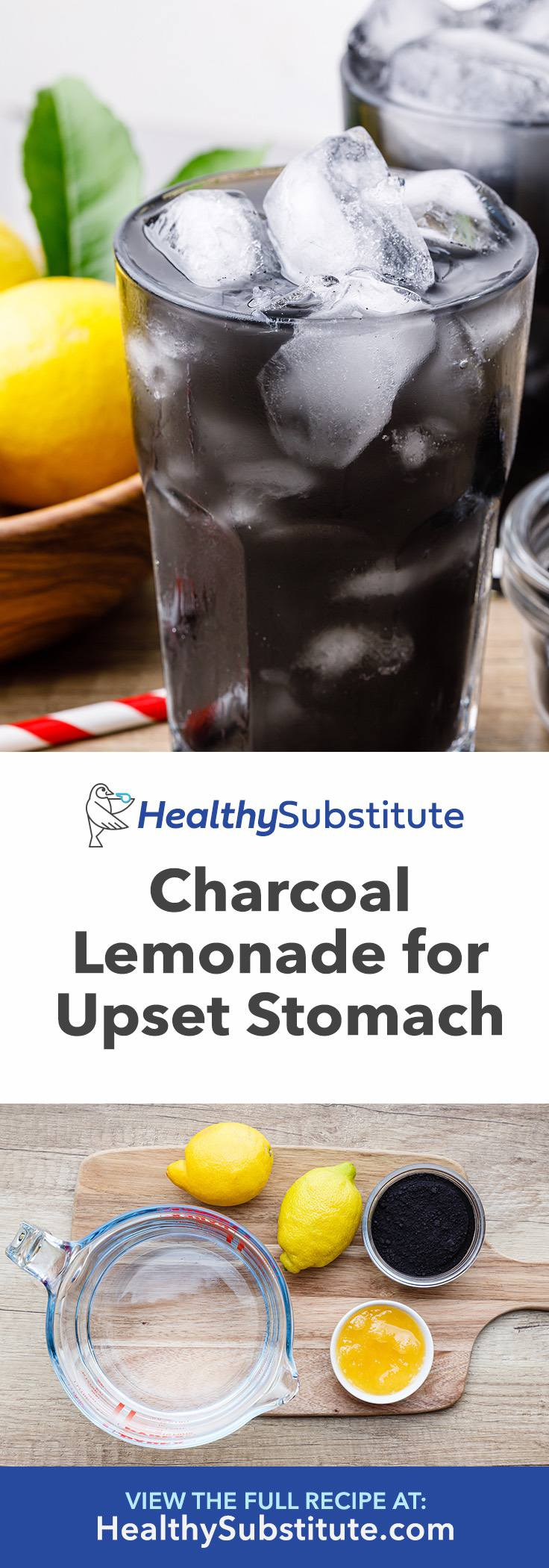 Soothing Charcoal Lemonade for Gas and Upset Stomach