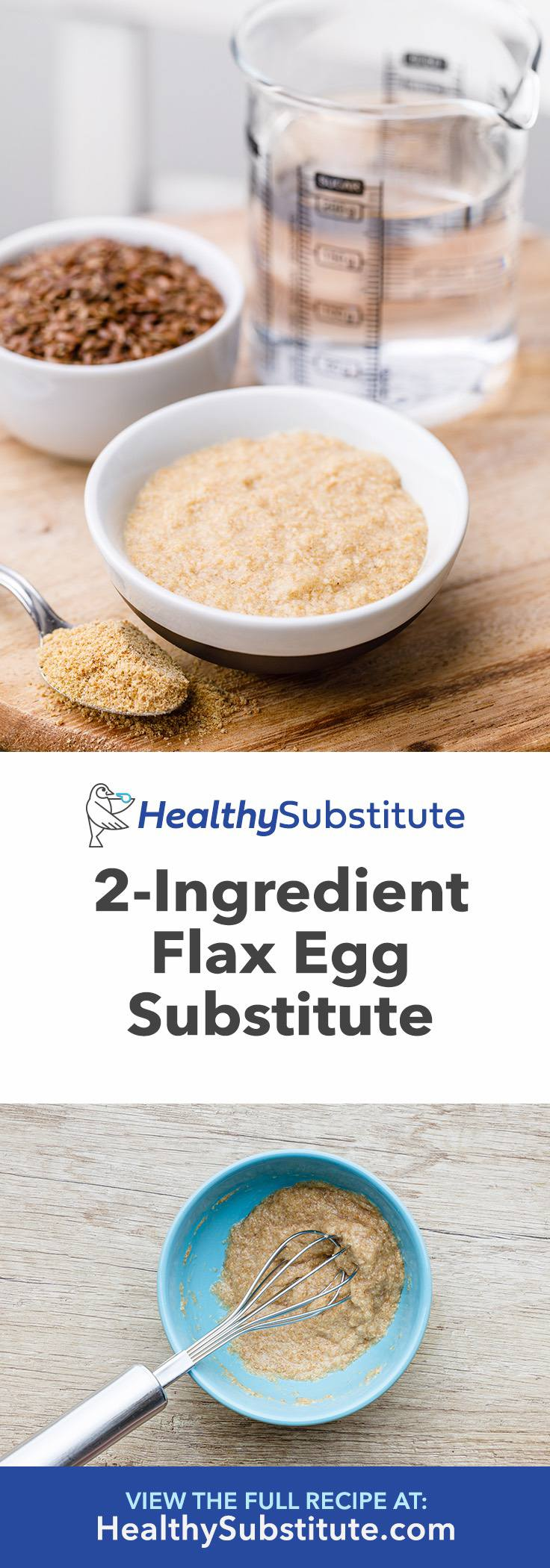 2-Ingredient Flax Egg Substitute