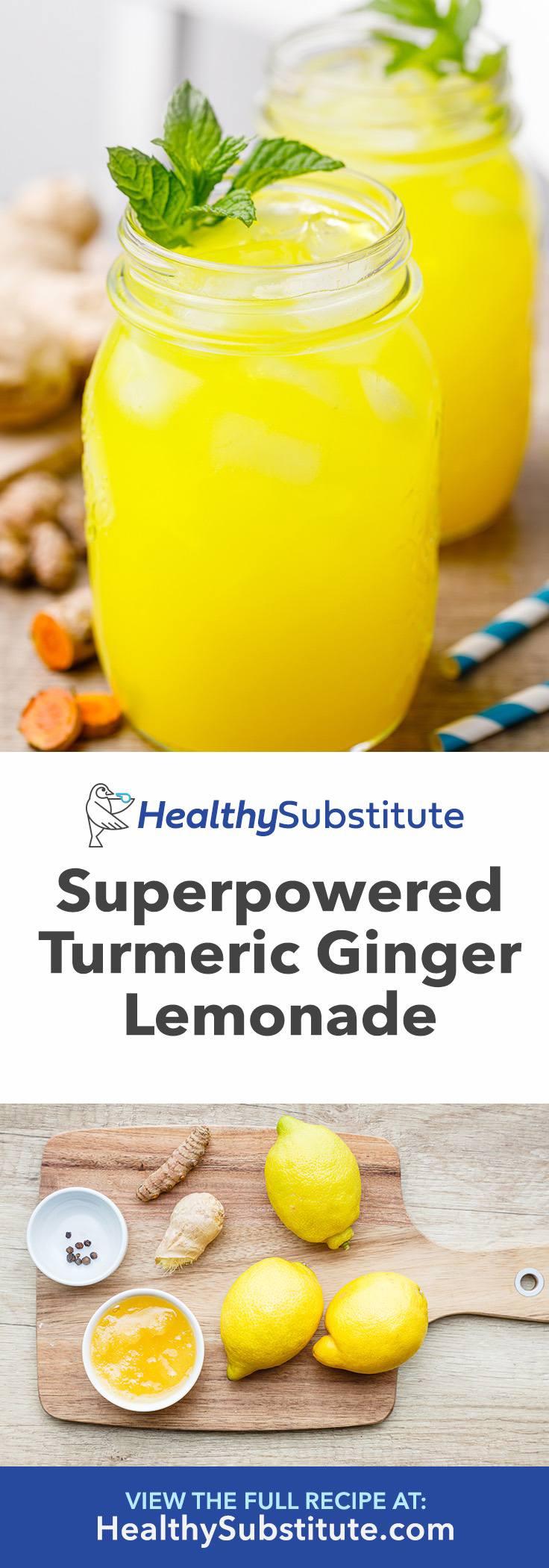 Superpowered Fresh Turmeric Ginger Lemonade